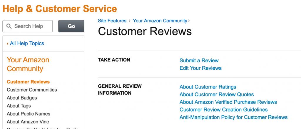 Amazon.com Help Customer Reviews