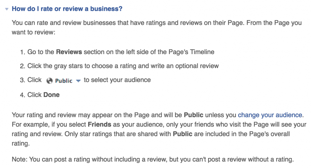 Ratings Reviews Facebook Help Centre